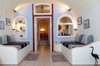 traditional cave house villa lukas living room